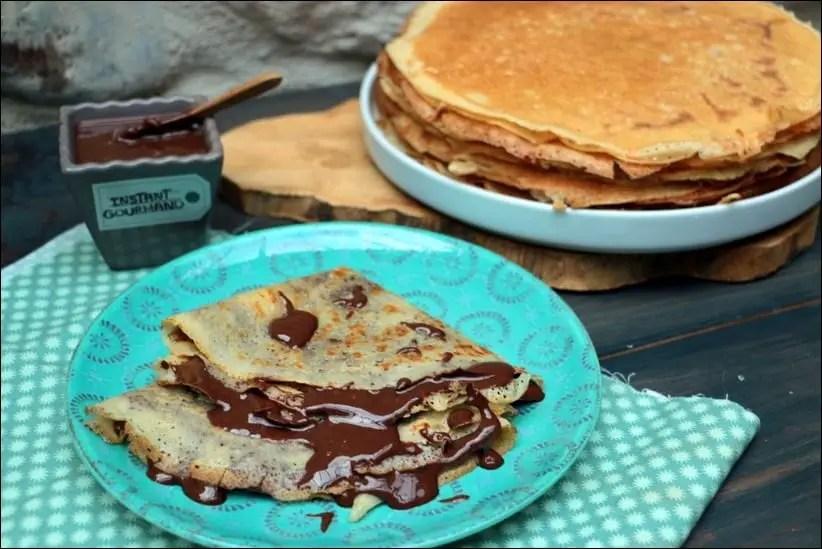 crepes sauce chocolat praliné sans gluten sans lactose