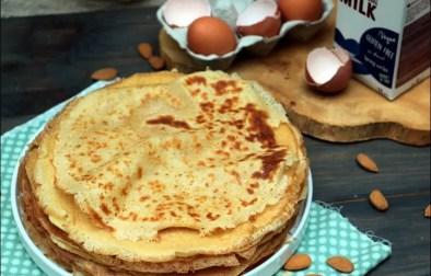 crêpes au lait d'amandes sans gluten et sans lactose