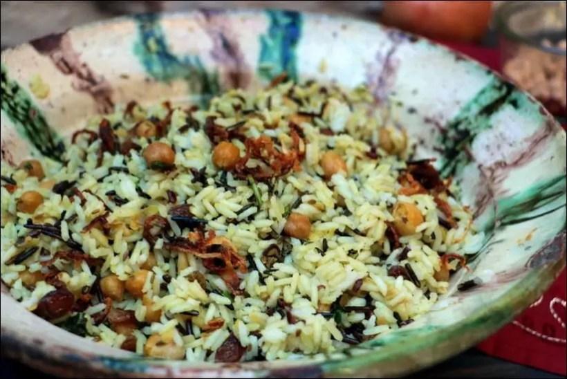 riz aux pois chiches épicé
