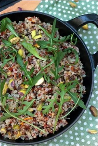 riz sauvage et quinoa