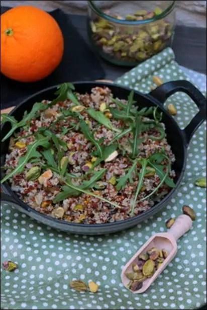 salade riz rouge quinoa