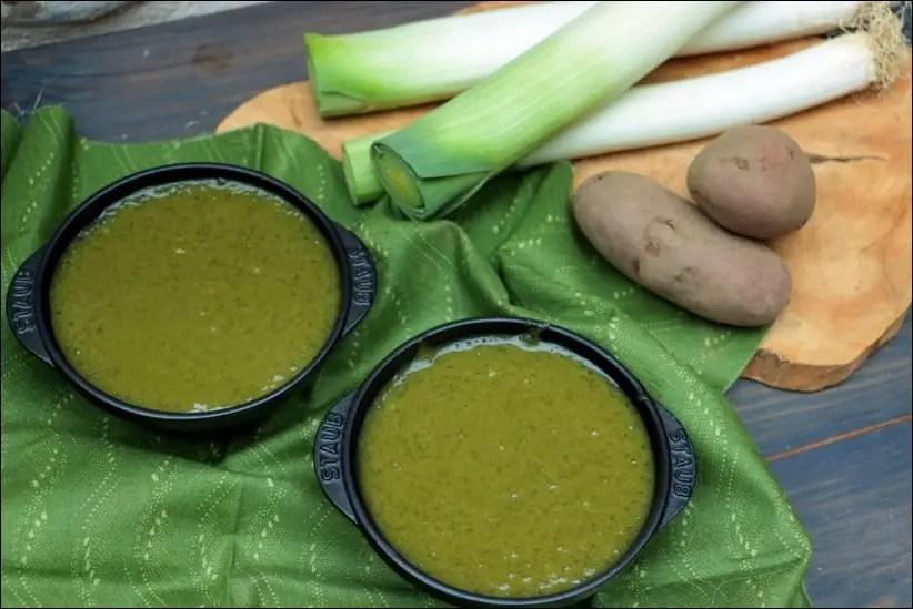 soupe poireau tapioca