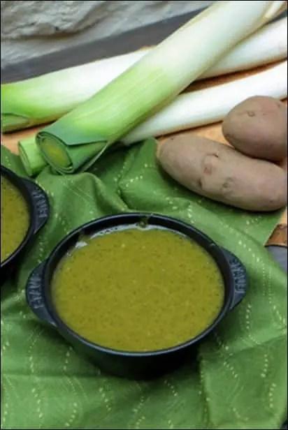 soupe de poireau vert