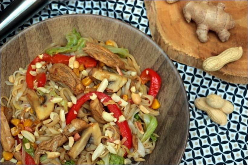 wok nouilles poulet