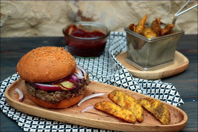 hamburger oignon rouge