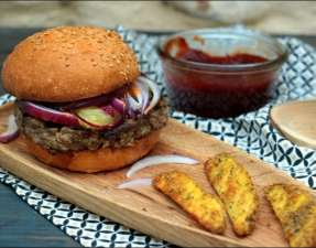 hamburger classique à la tomme de Bug Fernand