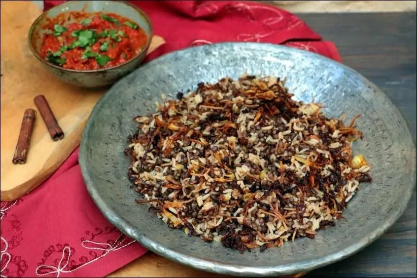 riz basmati lentilles