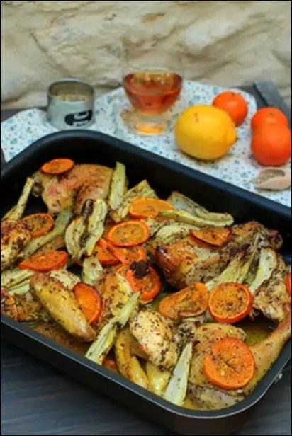 poulet fenouil mandarine