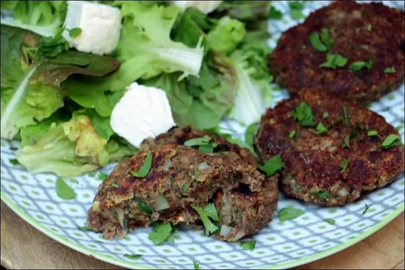 steak vegetarien lentille