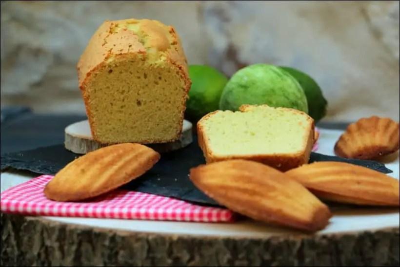 gateau madeleine au citron vert