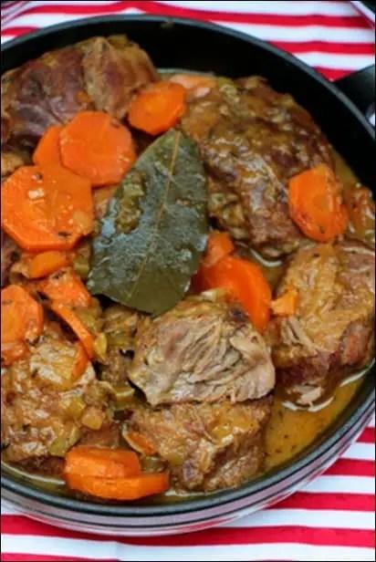 joues de porc a la biere et carottes au miel
