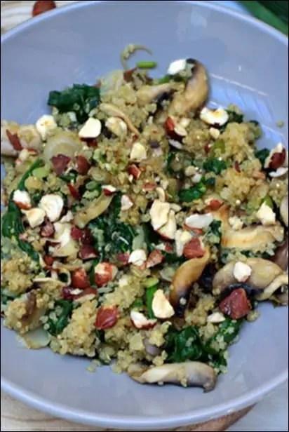 recette quinoa avec epinard