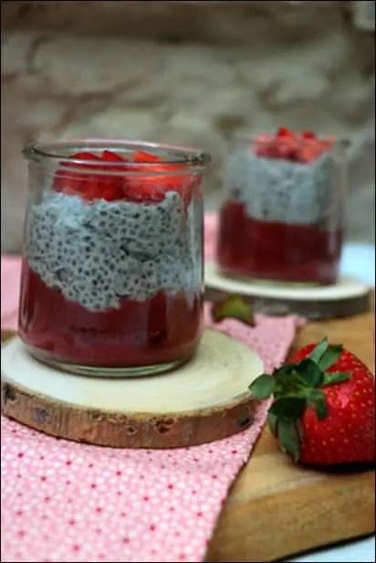 pudding chia coco fraise