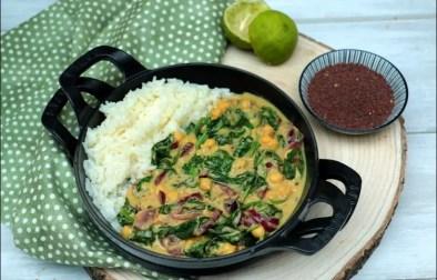 curry d'épinards aux pois chiches