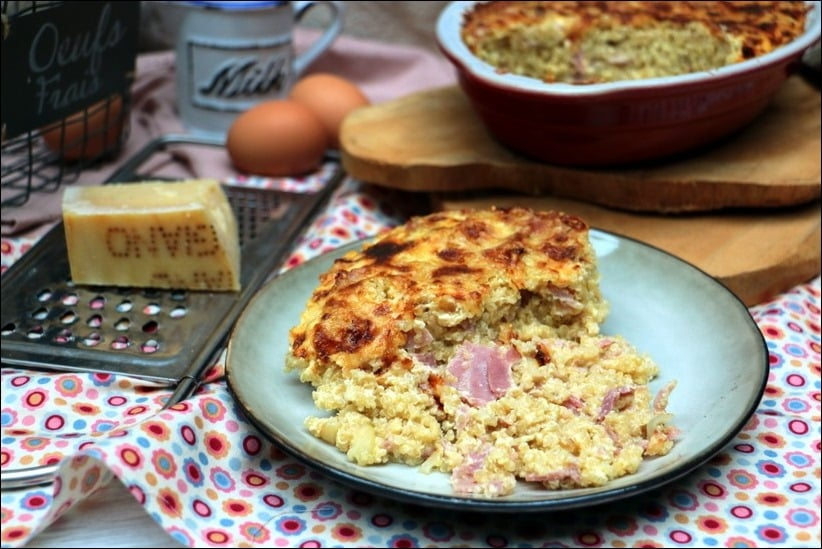 gratin quinoa jambon creme parmesan