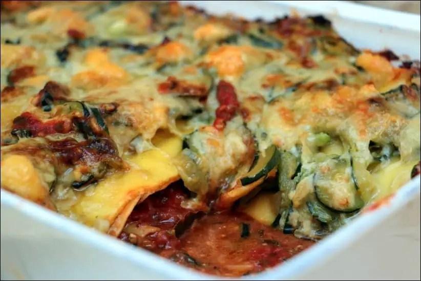 lasagne de courgette chevre