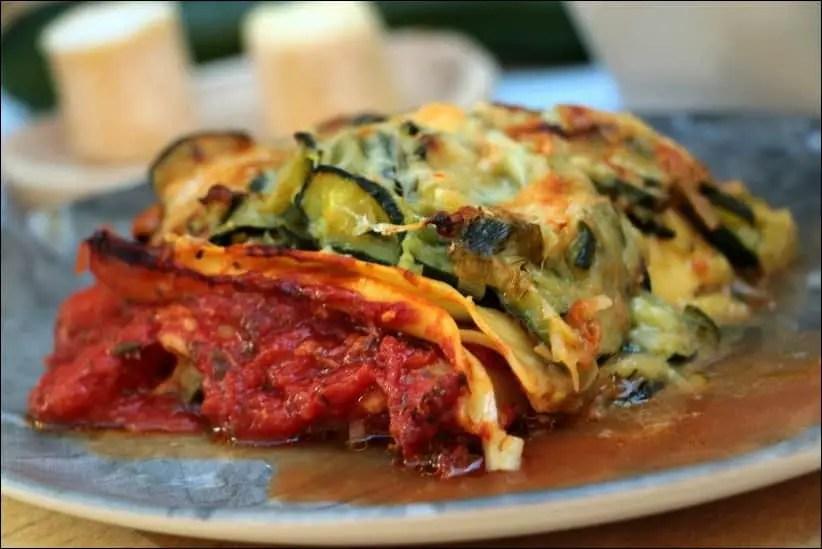 lasagne light courgette chevre