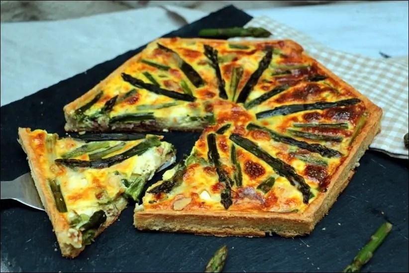 quiche asperge lardons fromage