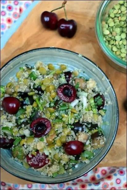 salade quinoa pois cassés