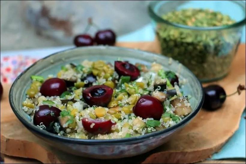 salade pois cassés vegetarien