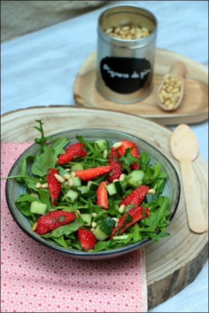 salade verte fraise