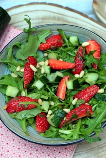 salade fraises salée