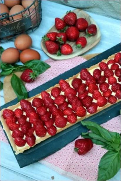 tarte à la fraise crème patissière