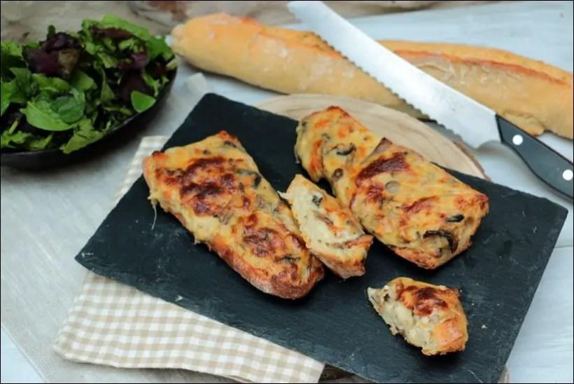 tartines lardons mozzarella