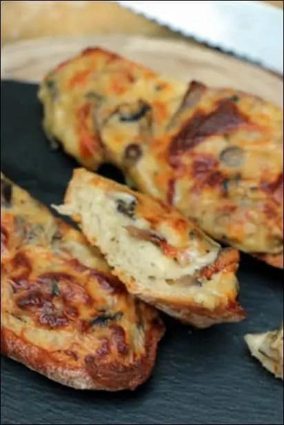 tartine lardons champignons