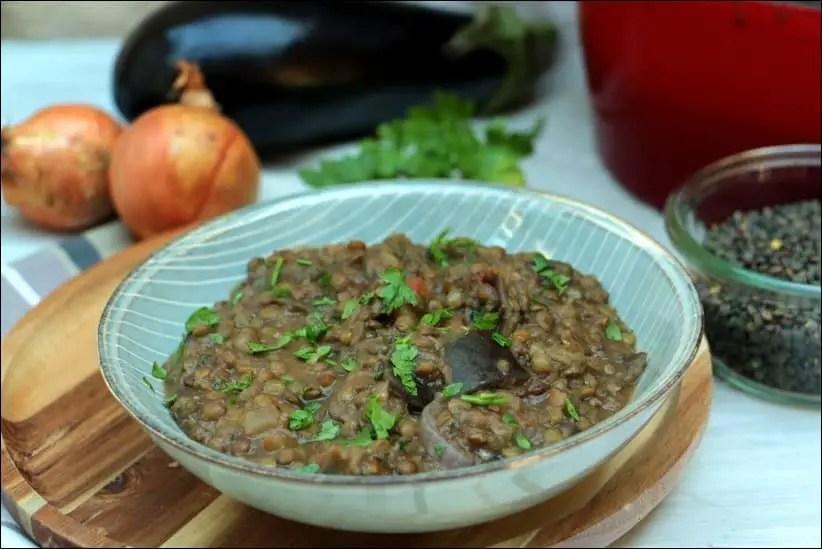 cocotte lentille aubergine ottolenghi