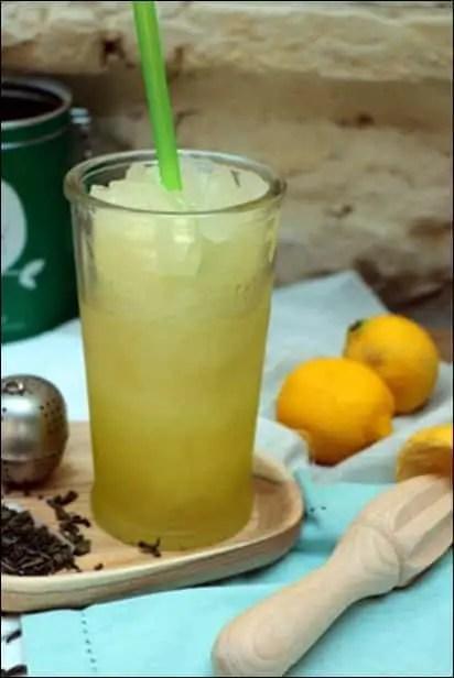 slush au thé vert et citron