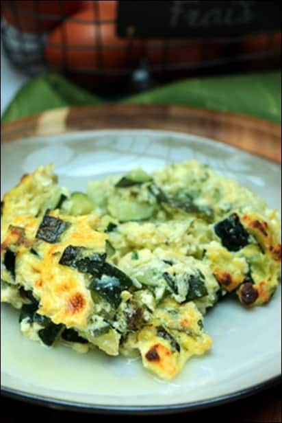 gratin courgette menthe