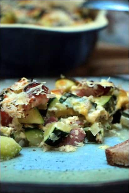 gratin courgettes healthy