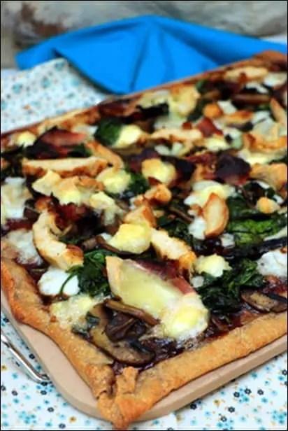 pizza poulet champignon