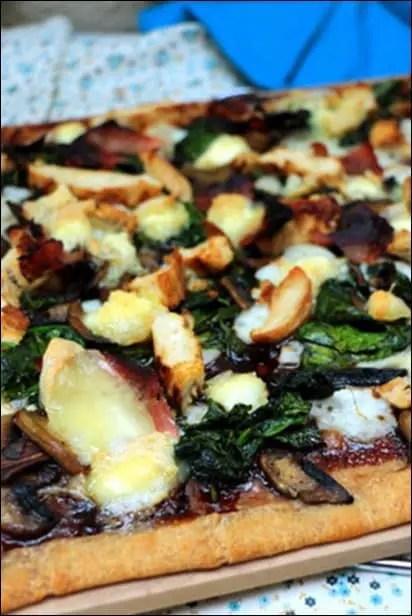 pizza poulet mozzarella