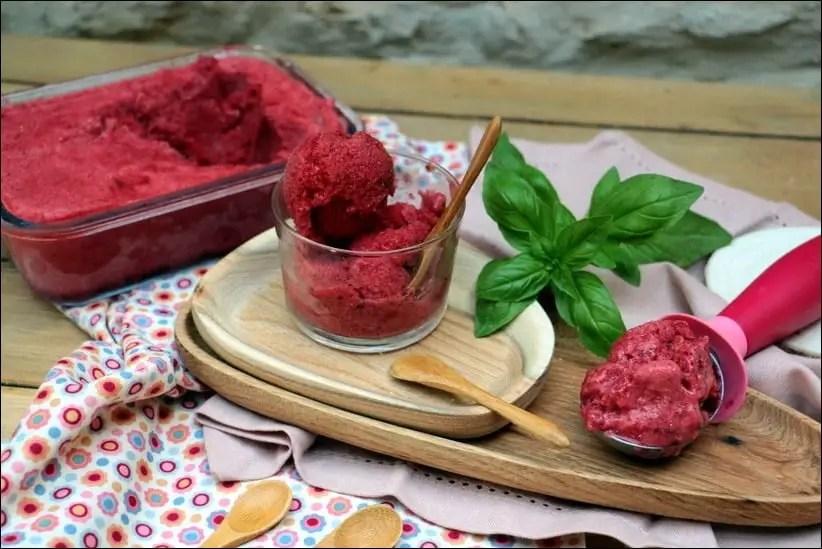 sorbet fraise au blender