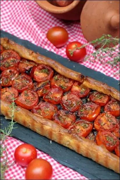 tarte tomate vegetarienne