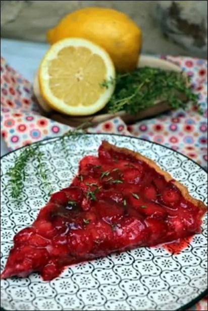 tarte fraises thym
