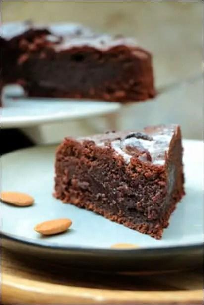 fondant chocolat a la poudre d'amande
