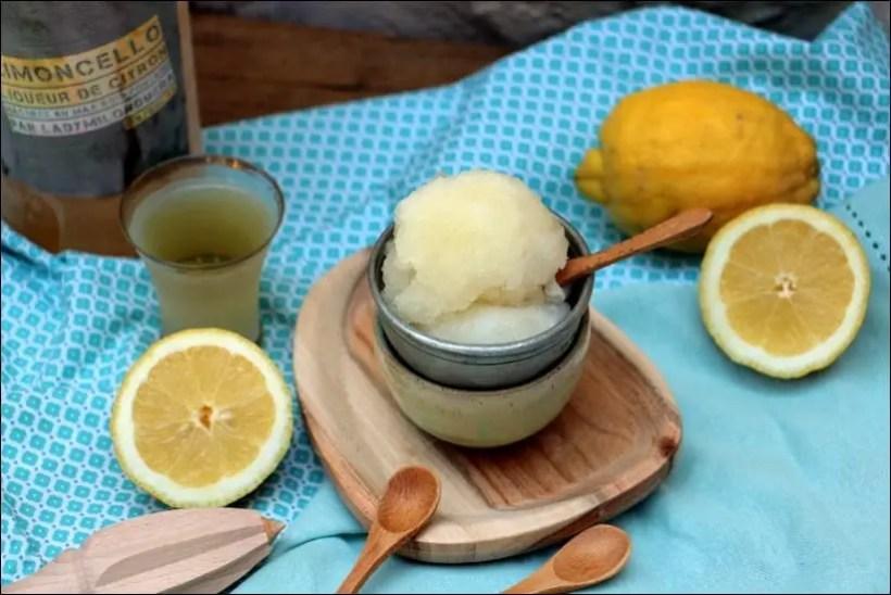 gelato citron limoncello