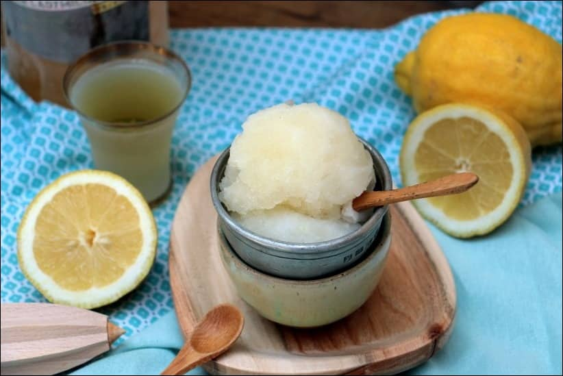 sorbet citron maison