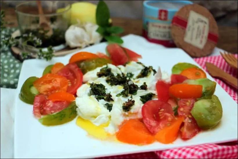 salade caprese marinée