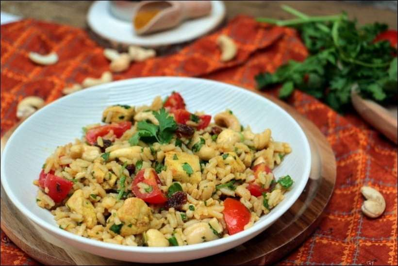 salade riz poulet