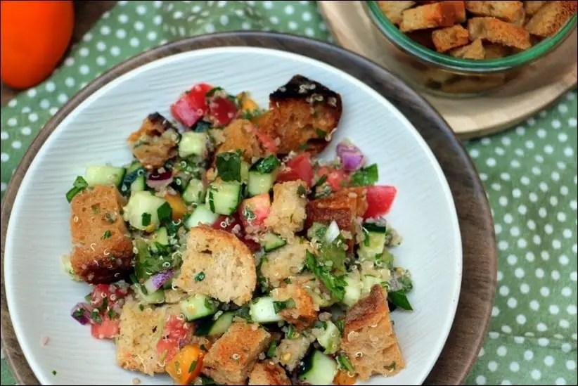 salade quinoa concombre tomate