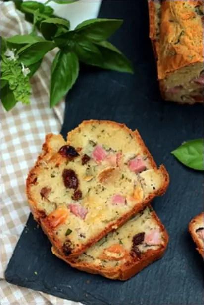 cake jambon basilic