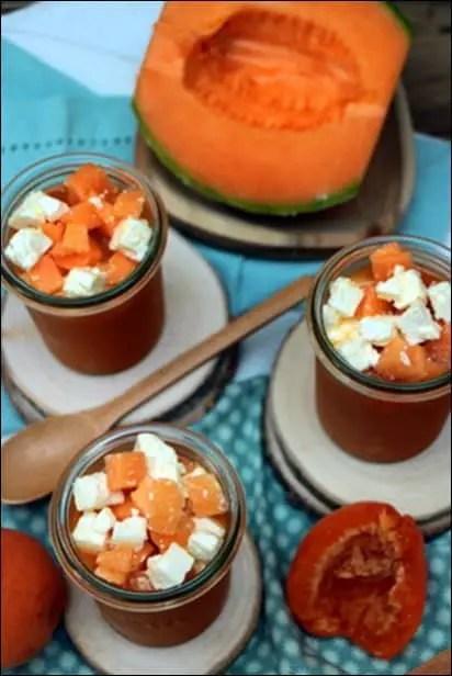 soupe de melon froide en entrée