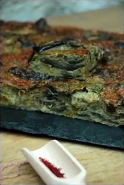 omelette aubergine ottolenghi