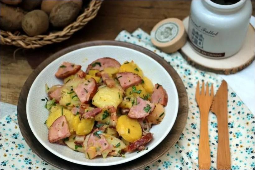 salade pommes de terre ciboulette