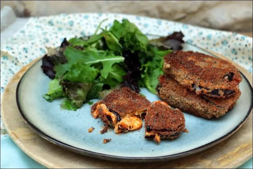sandwich aubergine mozzarella