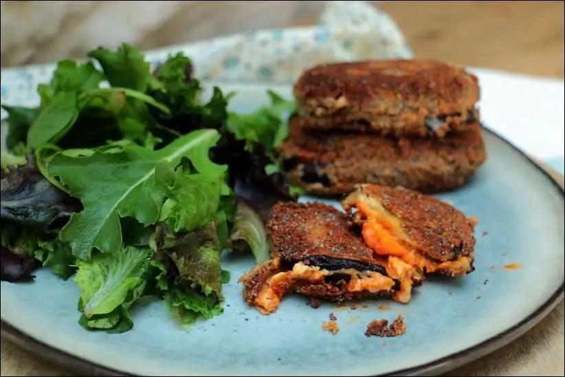 aubergine mozzarella chapelure